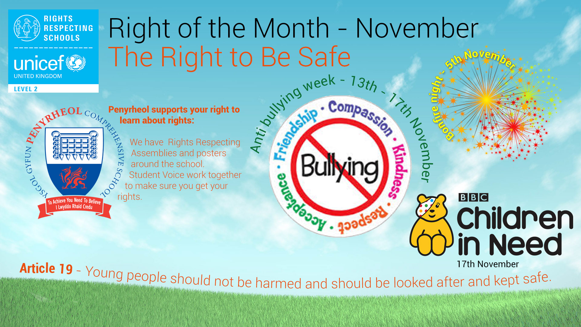Rights Respecting Schools – November 2017 #RRS #RightsHour