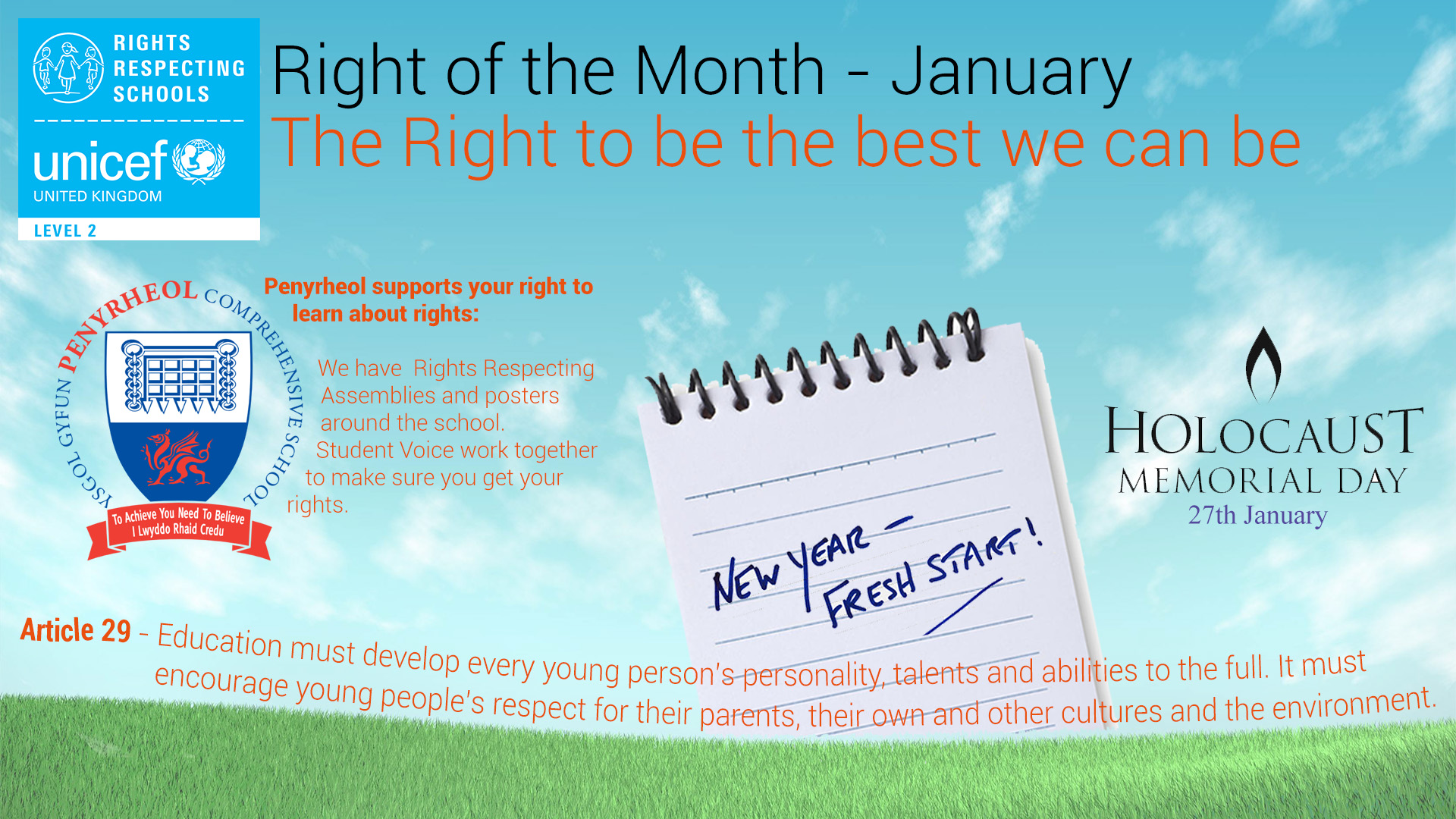 Rights Respecting Schools – January 2018 #RRS #RightsHour