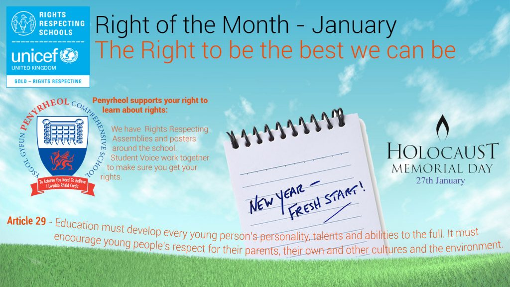Rights Respecting Schools – January 2019 #RRS #RightsHour