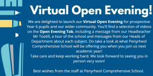 Welcome to our Virtual Open Evening!
