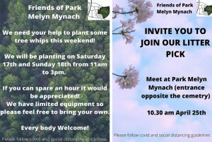 Community News: Parc Melyn Mynach - Tree Planting and Litter Pick events
